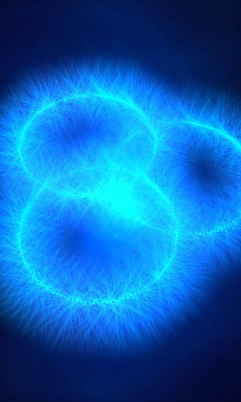 Glowing blue rings free lwp - screenshot