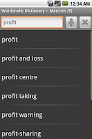 Screenshot of Wordoholic Dictionary