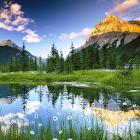 Montagne, acqua, nuvole LWP icon