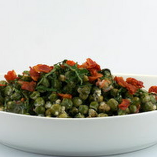 Peas with Pancetta, Mint and CrèMe Fraiche Recipe