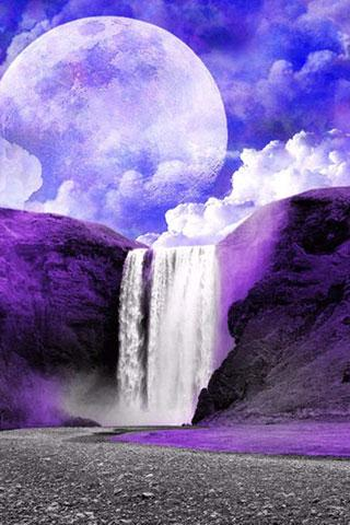 3D Waterfall HD wallpaper - screenshot