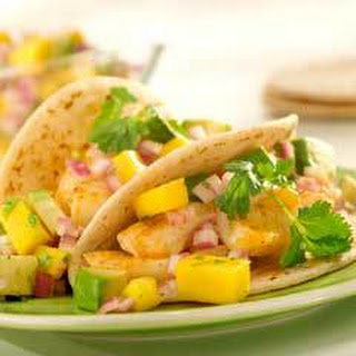 Fish Tacos With Avocado-mango Salsa.