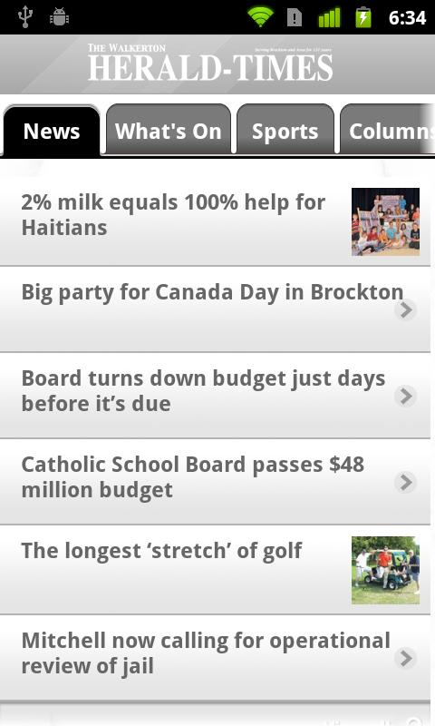 Walkerton Herald-Times - screenshot