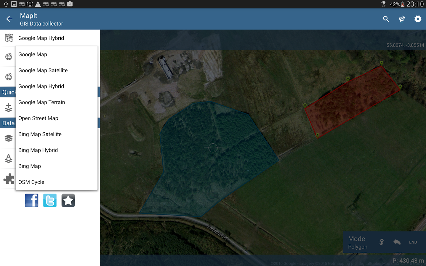 MapIt GIS - GPS Map Surveys & Measurements- screenshot