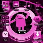 CYANOGEN PINK GOLauncher Theme icon