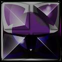 Next Launcher Theme purple sna icon