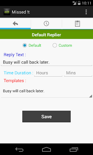 Missed Call Replier Scheduler