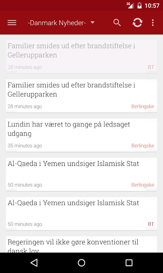 Danmark Nyheder - screenshot