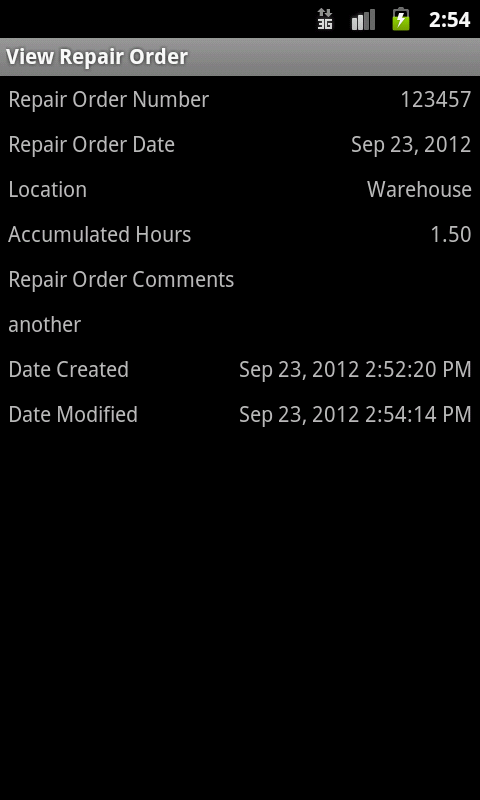Repair Order Manager - screenshot