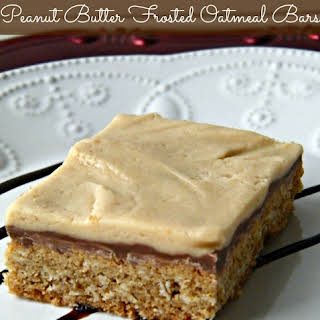 Peanut Butter Frosted Oatmeal Bars.