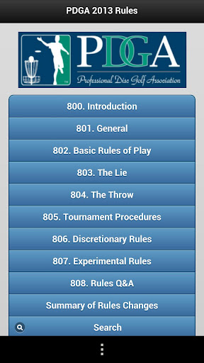 PDGA Mobile Rules