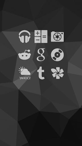 Shapely White Icons