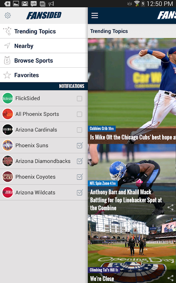FanSided | Sports & Ent. News - screenshot