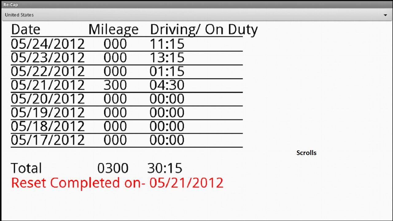 Drivers Daily Log- screenshot