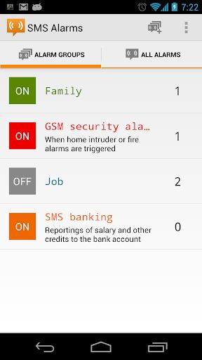 SMS Alarms