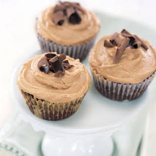 Brownie Cupcakes with Peanut Butter Frosting.