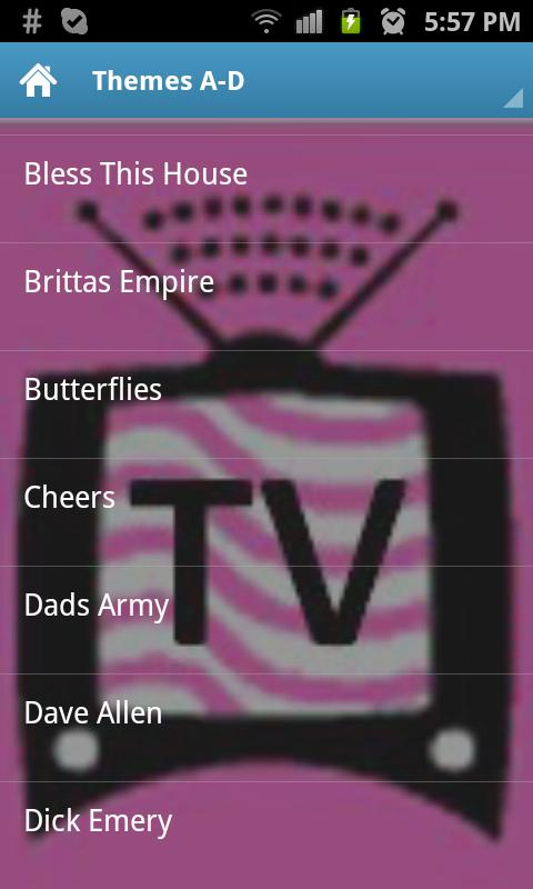 TV Themes of UK comedy shows - screenshot