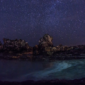 Starry Night by Teck Keong Chu - Nature Up Close Rock & Stone