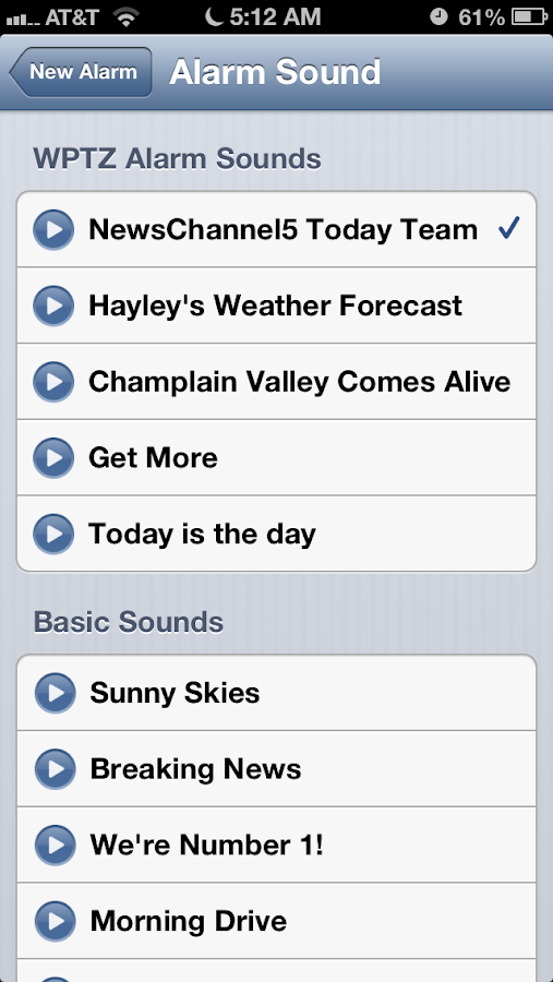 Alarm Clock WPTZ NewsChannel 5 - screenshot