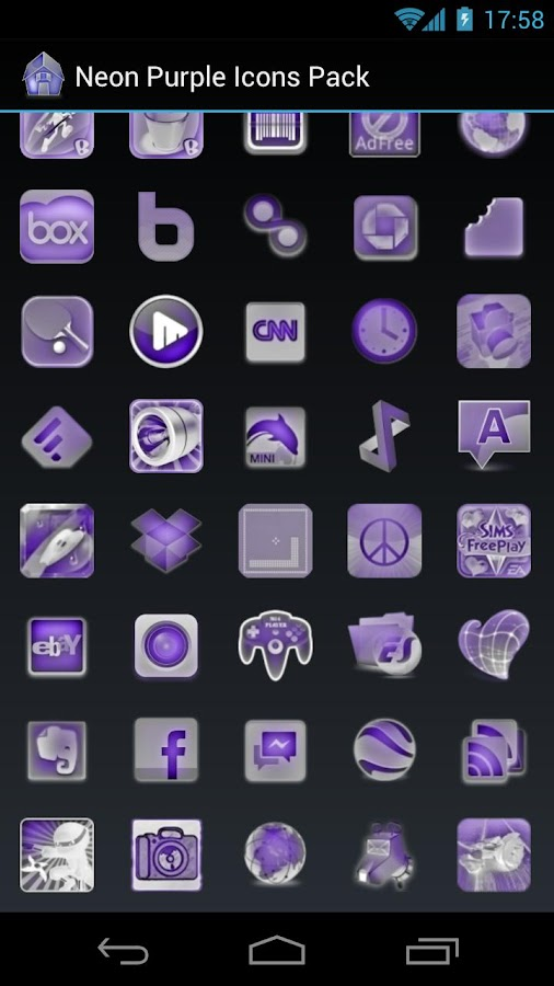 Neon Purple Icons Pack -ADW GO- screenshot