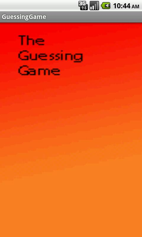 The Guessing Game - screenshot