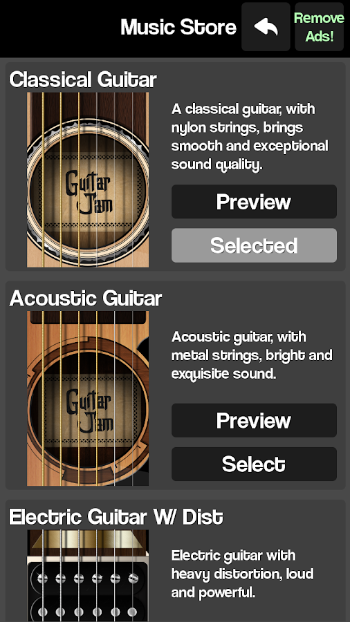 real guitar guitar simulator android apps on google play. Black Bedroom Furniture Sets. Home Design Ideas
