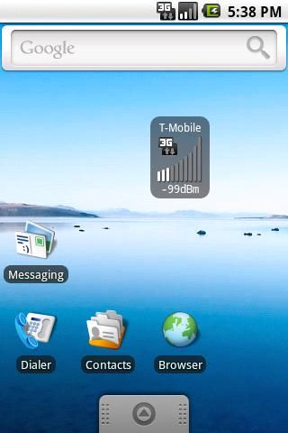 Mobile Signal Widget - screenshot