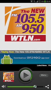 The New 105.5FM/AM950 WTLN - screenshot thumbnail