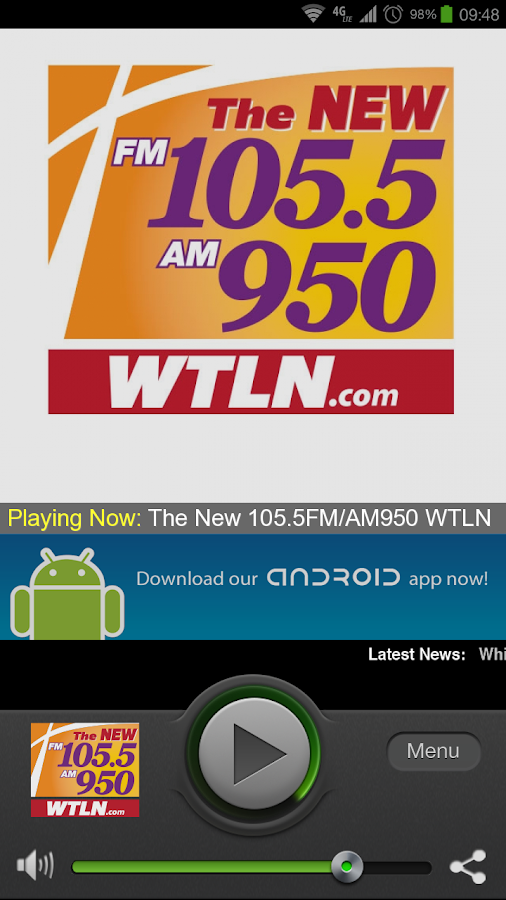 The New 105.5FM/AM950 WTLN - screenshot