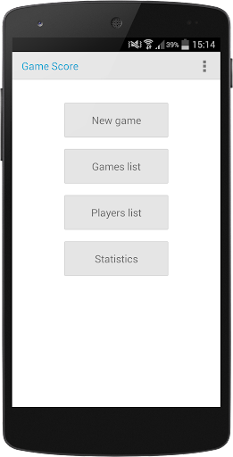 Game Score - Scorekeeper