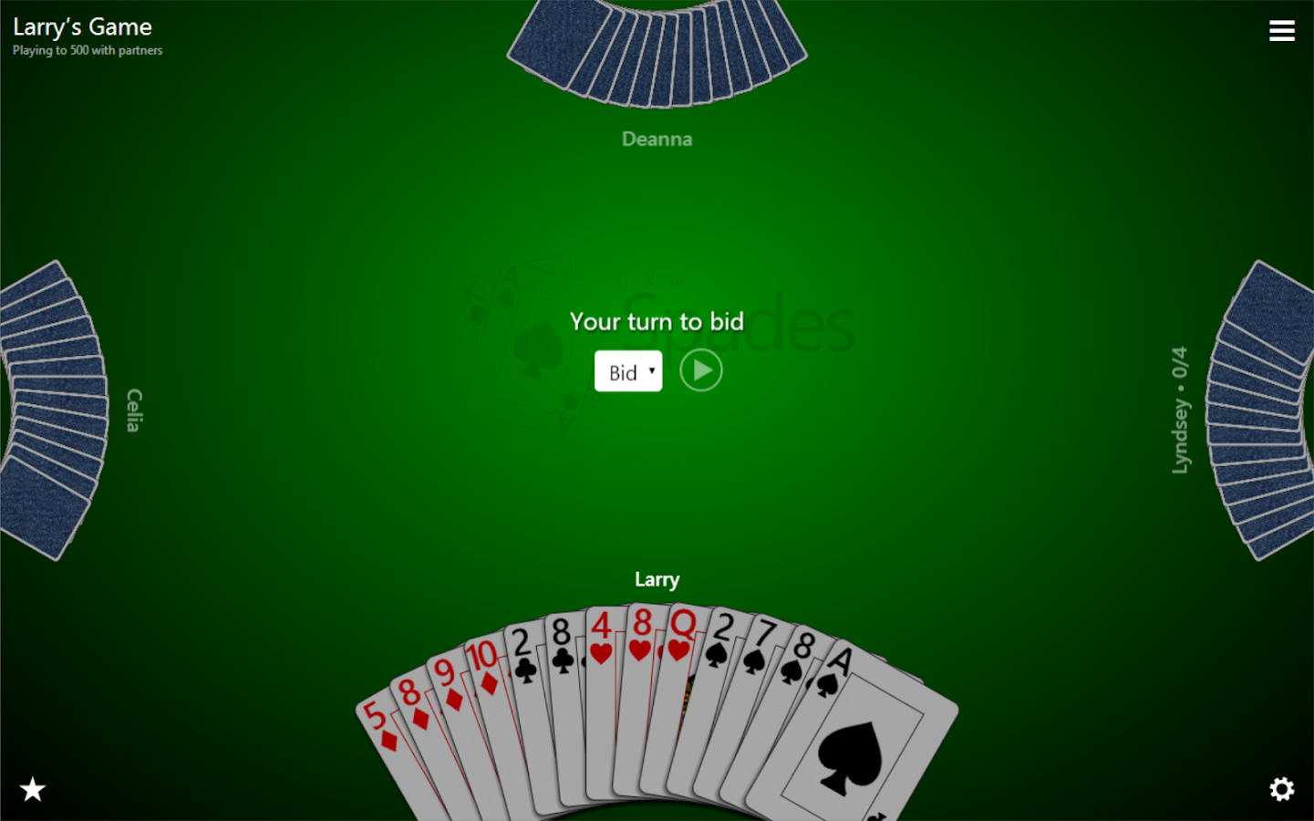 play spades online against computer