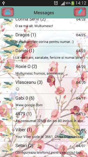 GO短信加强版花鸟