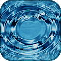 Animated water background icon