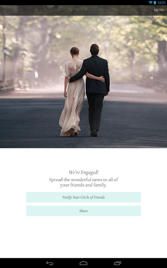 Tiffany Engagement Ring Finder - screenshot