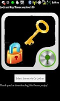 Screenshot of GoLocker Lock and Key Theme