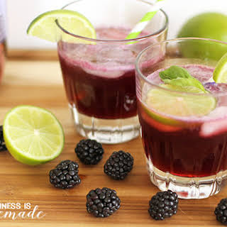 Blackberry + Lime Fizz Cocktail.