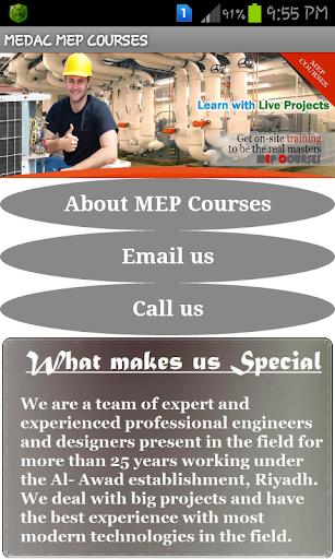 MEDAC MEP COURSES