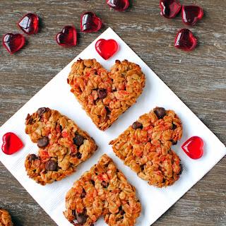Valentine's Day Granola Cookies.