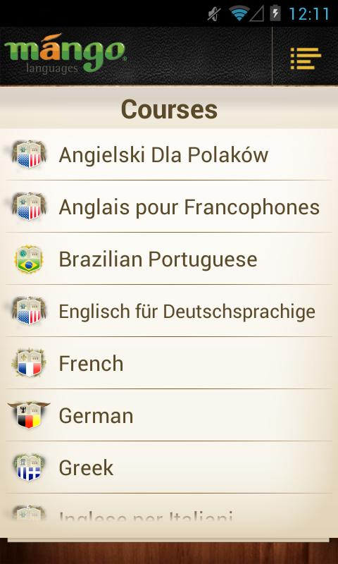 Mango Languages Consumer - screenshot