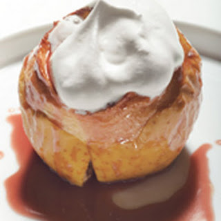Warm Baked Apples with Cranberry-Caramel Sauce Recipe
