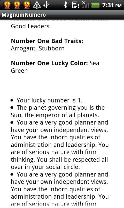 Numerology Name Lucky Number - screenshot