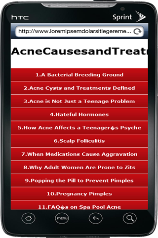 Acne Causes and Treatments