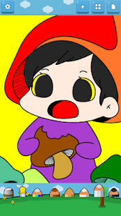 Kids Coloring (Vegetable elf) - screenshot thumbnail