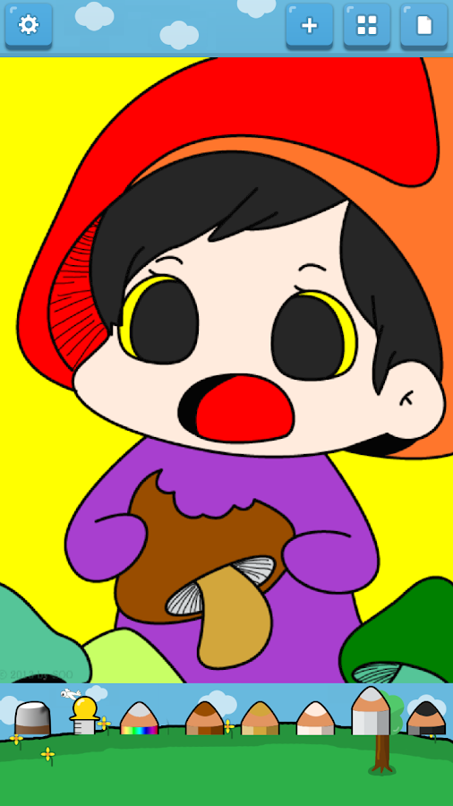 Kids Coloring (Vegetable elf)- screenshot