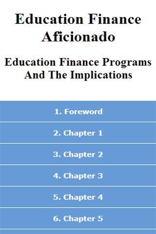 Education Finance Aficionado