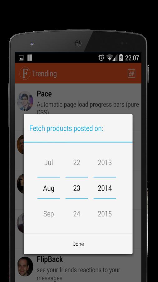 Fetch: Product Hunt Client - screenshot