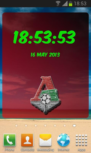 Lokomotiv Moscow Digital Clock