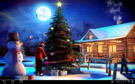(APK) تحميل لالروبوت / PC Christmas 3D Live Wallpaper تطبيقات screenshot