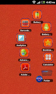 TSF Shell Theme Orange Blue HD - screenshot thumbnail