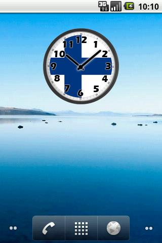 Finland Clock